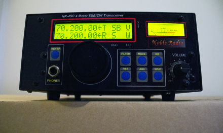 Noble NR4SC – monoband QRP TRX for 70MHz band